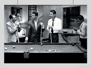 THE RAT PACK POSTER SNOOKER VINTAGE POOL A3 A4 SIZE