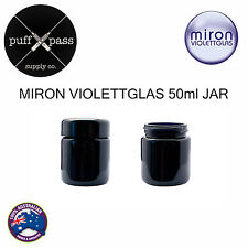 MIRON VIOLETTGALS - VIOLET GLASS JAR WITH LID 50ml - TOBACCO HERB STORAGE JAR