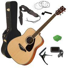 Yamaha FG820 Acoustic Guitar - Natural STAGE ESSENTIALS BUNDLE