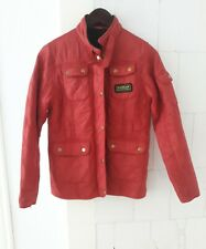 Women's BARBOUR INTERNATIONAL Quilted Outdoor Country Jacket Coat Red UK 10