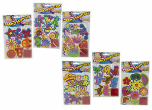 JUMBO EVA STAMP SETS WITH INK PAD KIDS TOY CRAFTS CREATIVE FUN STAMPING STAMPS