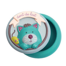 Moulin Roty Les Pachats Ceramic Milk Tooth Box with a Cat Lid from Wyestyles