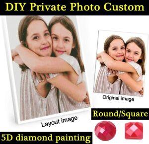 DIY Custom Diamond Painting Full Drill Private Picture Rhinestone Embroidery Art