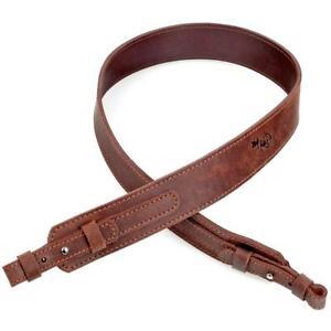 Genuine Leather Shotgun Gun Sling Brown Ammo Rifle Strap Hunti Quality Belt