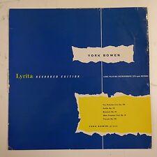 vinyl lp record YORK BOWEN piano music , lyrita rcs 17