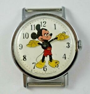 Vintage 1971 WDP Timex Mickey Mouse Character Dial Mechanic Wrist Watch lot.13