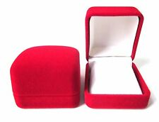 CLEARANCE-JOB LOT 12 x RED/W Velvet Small EARRINGS Gift Box-ONLY 50pEACH S-3.2 S