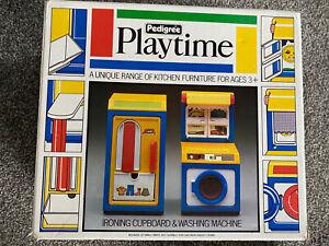 Vintage Retro Toy Pedigree Playtime Kitchen Set. Ironing Cupboard, Washer