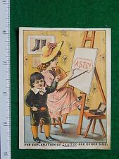 1870s-80s ASTC Co George E Pearson Boots Shoes Slippers Victorian Trade Card F28
