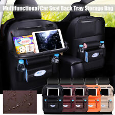 Car Seat Back Bag Organizer Storage iPad Phone Desk Holder Multi-Pocket Leather