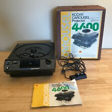 Kodak 4600 Carousel Slide Projector with Box and Remote (Needs Bulb!)