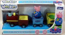 Peppa Pig Weebles PULL-ALONG WOBBILY TRAIN with EXCLUSIVE GEORGE PIG! NEW!