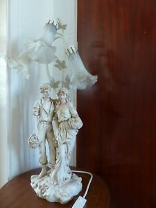 """Lady and Man figurine Lamp by Academy, 3 Lights, 26"""" high"""