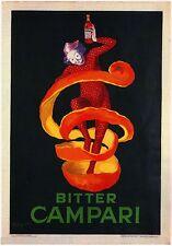 Bitter Gaspare Campari Liqueur Italy Vintage Advertisement Art Poster Print