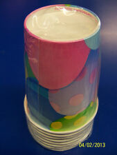 Peek-A-Boo Bunny Easter Eggs Colorful Spring Holiday Party 9 oz. Paper Cups