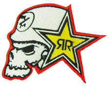 New Rockstar Energy Logo embroidered iron on patch. 3.6 x 3.25 inch (i145)