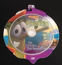 Veggie Tales PISTACHIO DVD Christmas Ornament Shaped Pinocchio Story + Features.