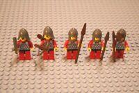 Lego Ritter / 5er Set / Rot / mit Waffen