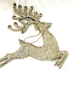 beauitful  gold glitter  REIN DEER hanging decoration [ t-66 ] new