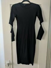 ASOS Black Stretch Dress With Exposed Elbows (Size US 6)