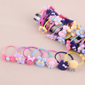 10 Pcs/lot Women Girls Hair Band Ties Rope Ring Elastic Hairband Ponytail Holder