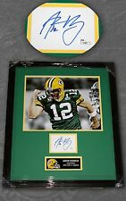 AARON RODGERS SIGNED JSA CERTIFIED CUT & PHOTO FRAMED 20x24 GREEN BAY PACKERS