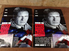 2 1994 Clear And Present Danger Original Movie House Full Sheet Posters