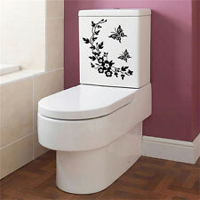 Butterfly Flower Bathroom Toilet Laptop Wall Decals Sticker Home Decoration AU..