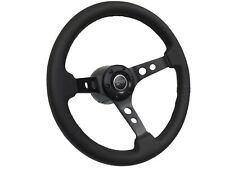 1968 - 1973 Mercury Cougar Leather Steering Wheel Black Kit | Cougar 3D Emblem