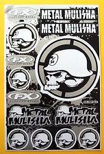 Set Bogen Aufkleber Sticker 15 x METAL MULISHA gelb schwarz 265 x 170 mm    #M05
