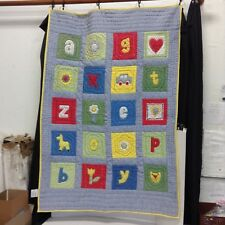 Pottery Barn Kids Alphabet Letters Animals Crib Nursery Baby Quilt Bed Toddler