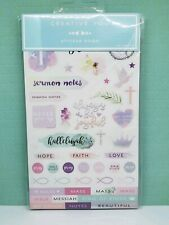 20 Sheets Sticker Book -Faith Religious Christian Planner Creative You BRAND NEW