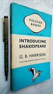 G B HARRISON INTRODUCING SHAKESPEARE 1ST/1 1939 PENGUIN A43 RARE JACKET UNREAD!!