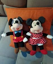 """Vintage Applause Musical Mickey & Minnie Mouse 10"""" Disney Wind up plush"""
