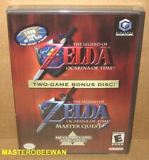GC Legend of Zelda: Ocarina of Time & Master Quest New Sealed Gamecube & Wii
