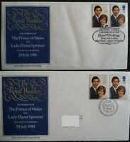 GB 1981 Royal Wedding Price of Wales Lady Diana Arundel Castle SHS + Bureau FDC