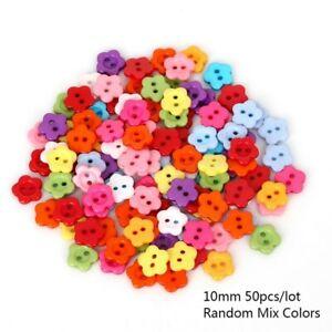 50PCS Mix Shape Lots Colors DIY Scrapbooking Cartoon Buttons Plastic Buttons
