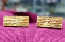 Toned Metal Slim Front Vintage Cuff Links Gold