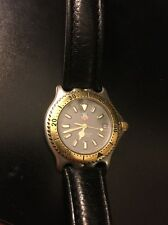 Vintage Tag Heuer 2000 Professional Black Dial Quartz Watch 2 Tone