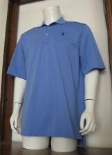 "L Men Polo Golf Ralph Lauren Polo Shirt Blue ""L"" Logo on sleeve Pima Cotton EUC"