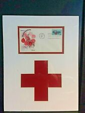 """First Day Cover """" saluting blood donors""""  framed with Red Cross - c.1971"""