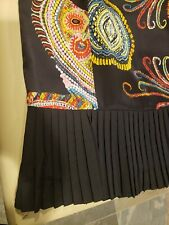 Silk Club Collection Black Plisse trim Skirt Size 12