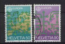 Svizzera 1988 SG # 1149-50 Europa usati serie n. 2