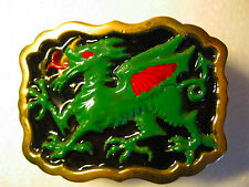 Solid Brass Green Dragon Belt Buckle. New. Never been used.