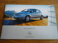 MERCEDES BENZ B CLASS PRICE LIST SALES BROCHURE OCT. 2007