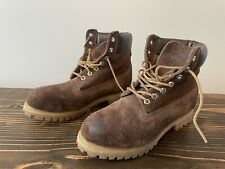 Used Men's Timberland 6 Inch Premium Boots US Size 7.5 Distressed Suede 38568