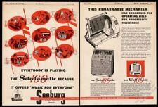 1949 Seeburg M100A M 100 A jukebox wallbox illustrated vintage trade print ad