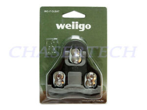 Wellgo RC-7C Road Bike Pedal Cleats 0 Degree Fixed Look Keo Compatible Black