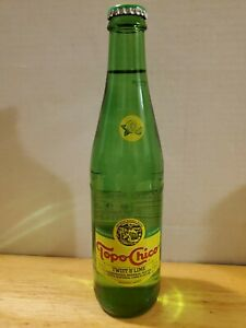 (1) Topo Chico Sparkling Mineral Water w/ Twist of Lime Full 12oz Glass Bottle