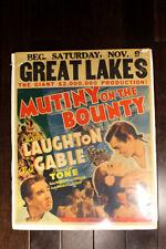 Mutiny on the Bounty (USA, 1935) Best Picture Gable Jumbo Window Card
